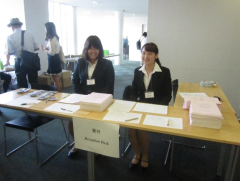 Conference reception desk